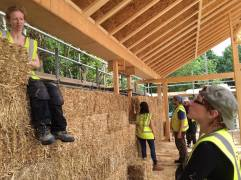 Building site in Romsey, volunteers' training with School of Natural Build
